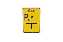 TABLICZKA METALOWA GAZ