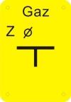 """TABLICZKA """"Z"""" GAZ (ZASUWA)"""