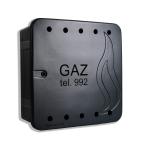 SZAFKA GAZOWA PSG 60x60x25 ZAMKNIĘTA GRAFIT PM ABS